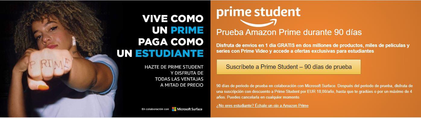 Prueba Amazon Prime Student durante 90 días - Envíos gratis durante 3 meses