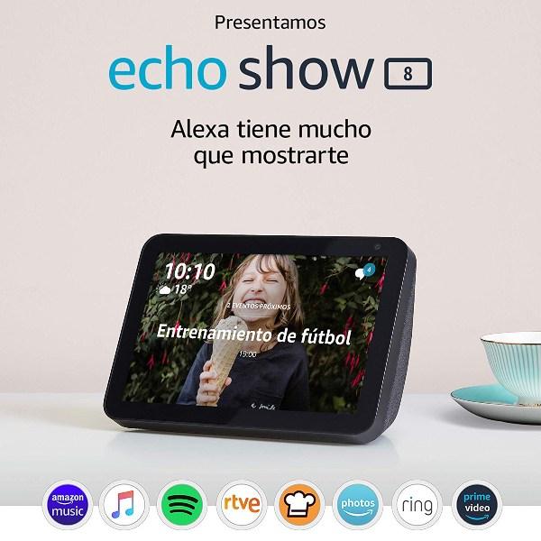 Echo Show 8, el nuevo altavoz-pantalla ya está a la venta