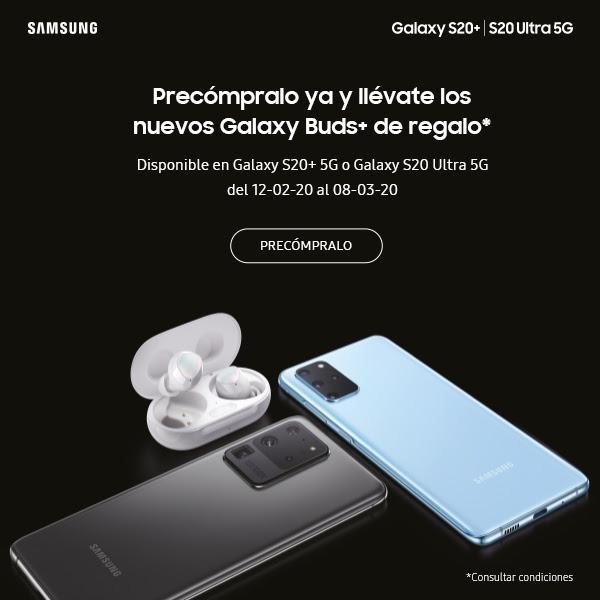 Galaxy Buds Plus GRATIS con tu Galaxy S20+ S20 Ultra 5G