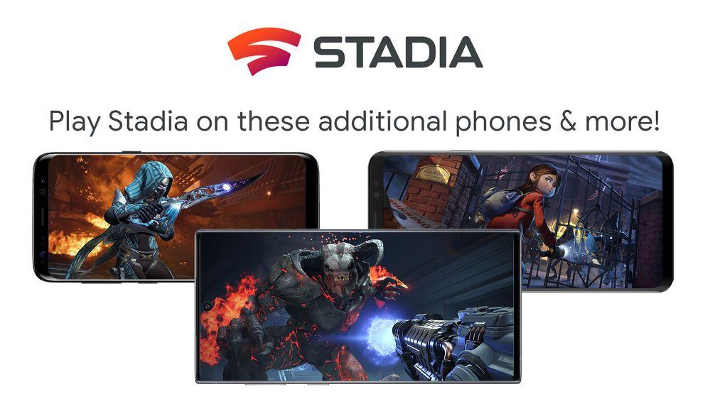 Stadia agrega soporte a móviles Samsung, ASUS y Razer