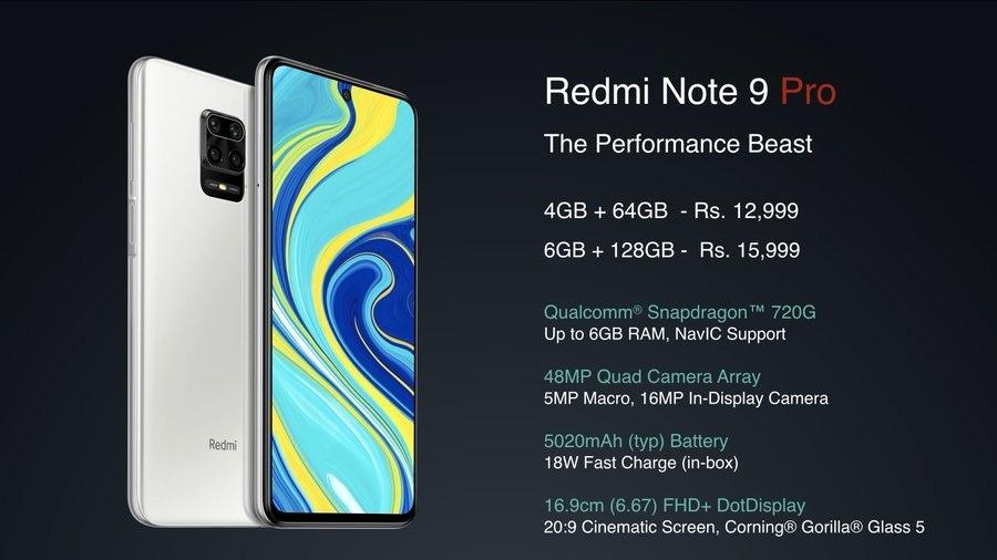 Redmi Note9 Pro Max y Note9 Pro