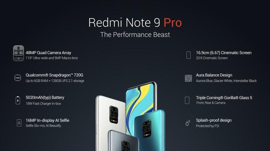 Redmi Note9 Pro Max y Note9 Pro sorprendentes y oficiales