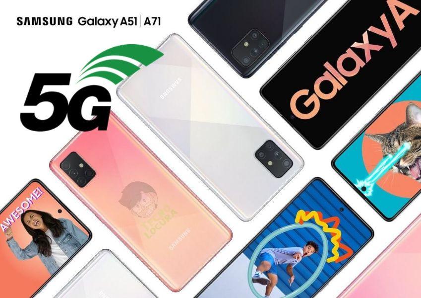 Samsung Galaxy A71 y Galaxy A51 5G