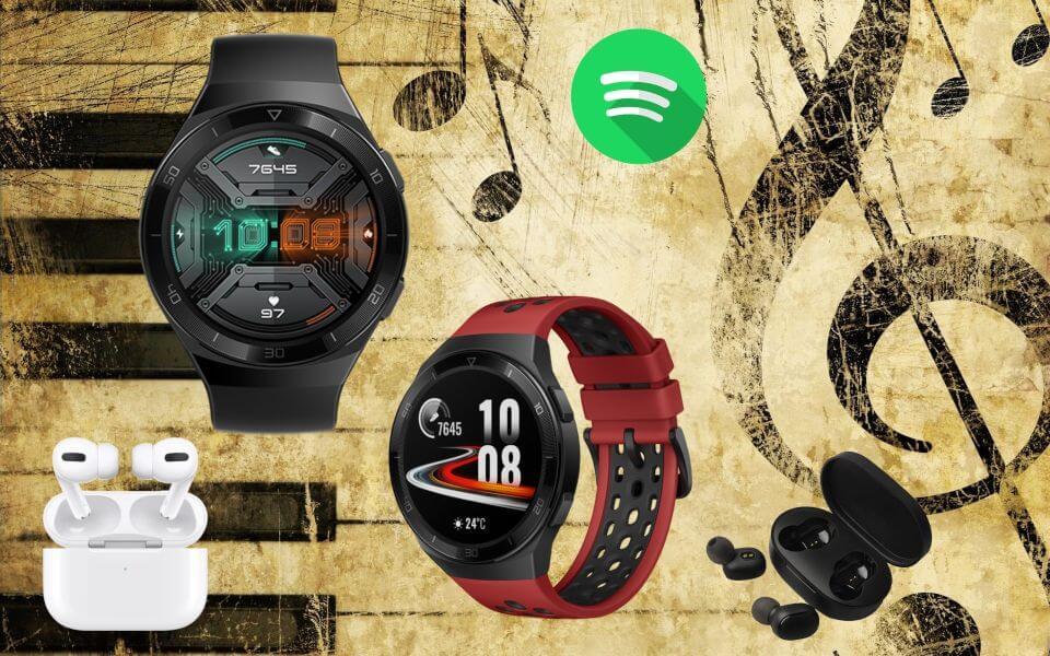Cómo usar la función música en Huawei Watch GT 2e