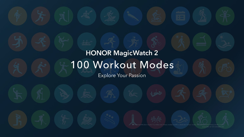 100 modos de entrenamiento que descubrir en el HONOR MagicWatch 2
