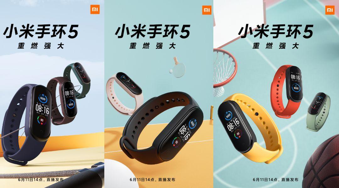 Xiaomi Mi Band 5 será lanzada el 11 de junio