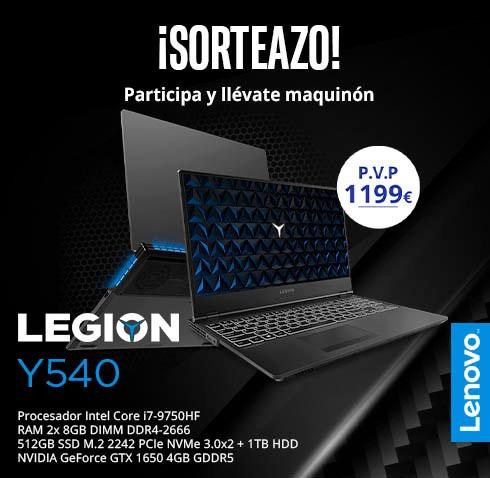 GANA un Lenovo Legion Y540 con este SORTEAZO