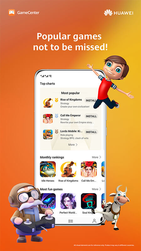 Huawei lanza su plataforma de videojuegos GameCenter