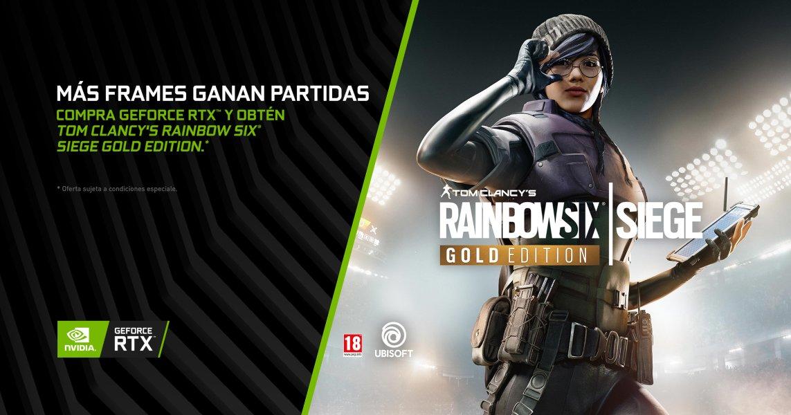Tom Clancy's Rainbow Six Siege incluído con las GPUs GeForce RTX