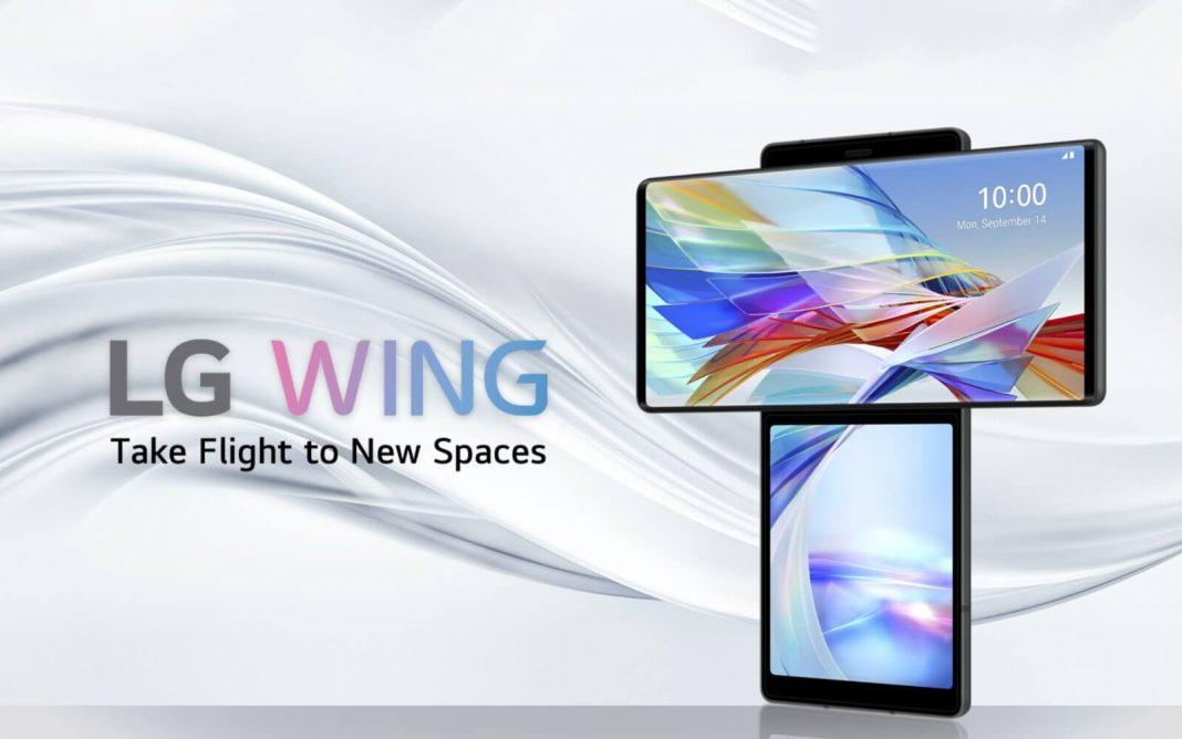 LG WING con pantalla giratoria sorprendente y oficial
