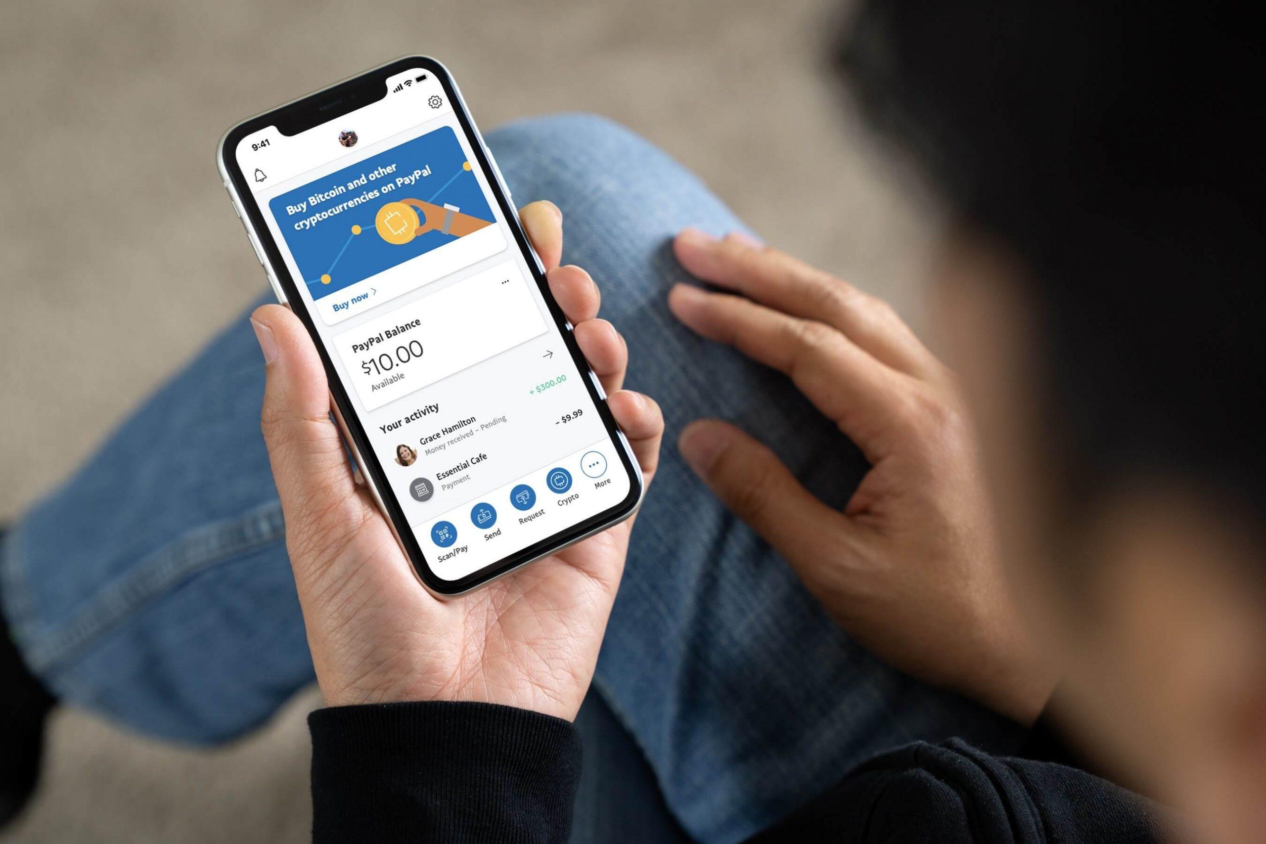 PayPal ahora permite comprar y vender criptomonedas