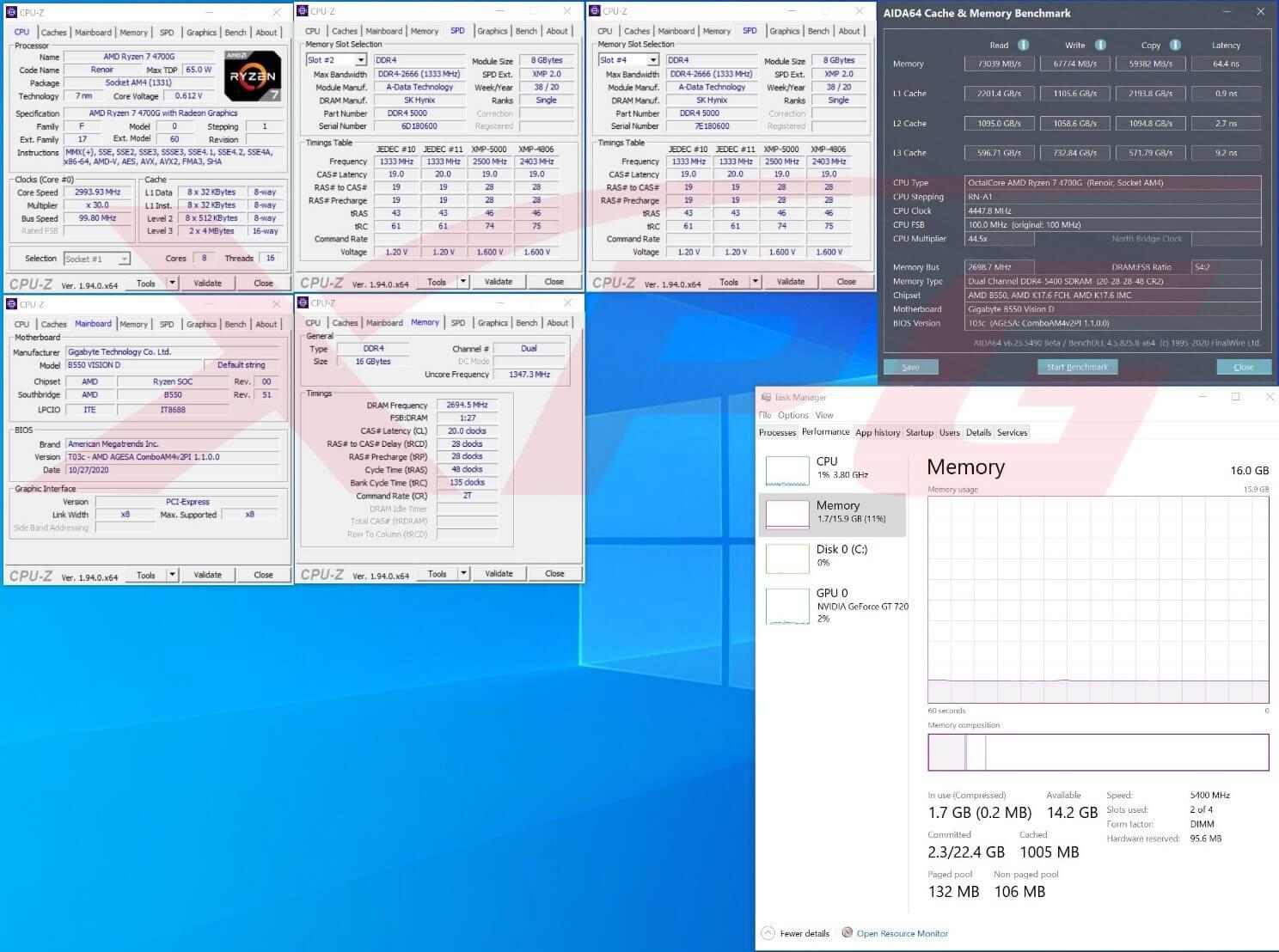 XPG SPECTRIX D50 Xtreme Clockeado a 5400MT/s