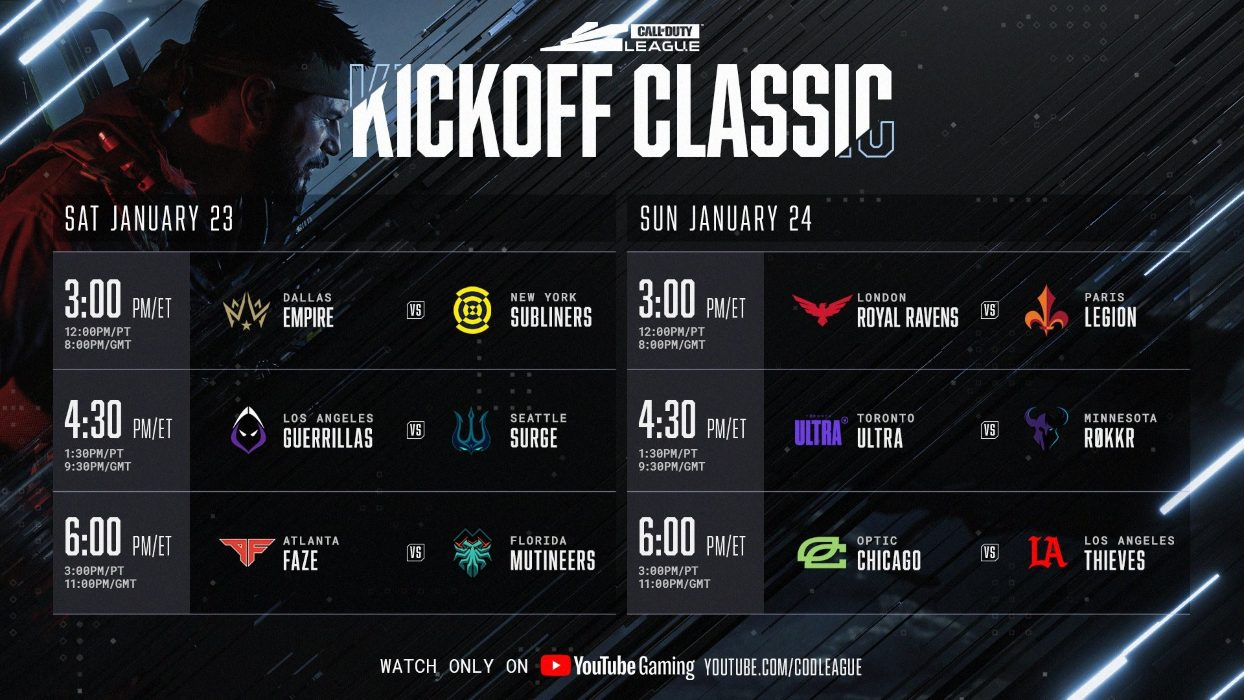 Call of Duty League Kickoff Classic HORARIO