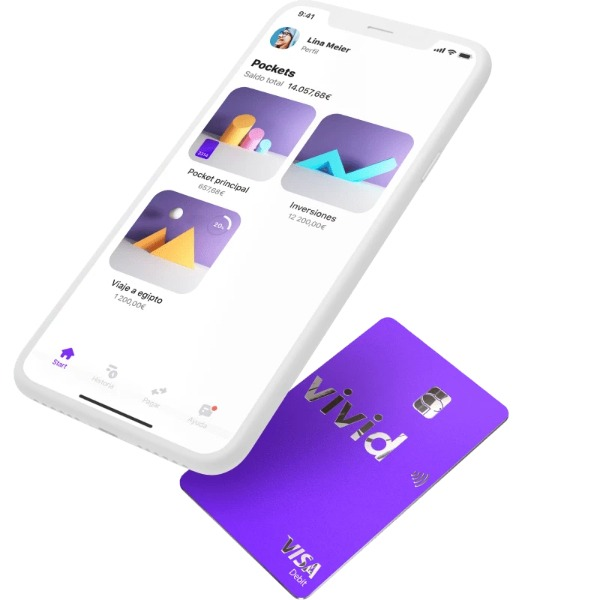 Primer neobanco que permite gestionar finanzas, ahorros e inversiones en una app Vivid Money