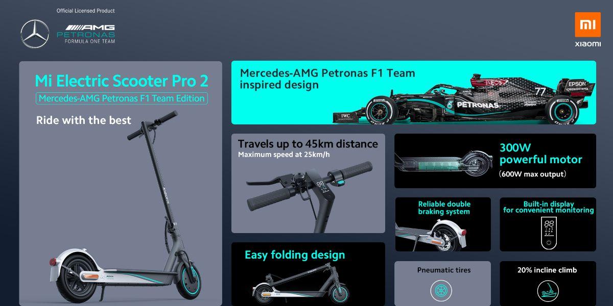 Mi Electric Scooter Pro 2 Mercedes-AMG Petronas F1 Team Edition_tecnolocura (4)