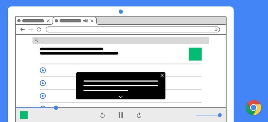Google Chrome ahora admite subtítulos en audio y vídeo