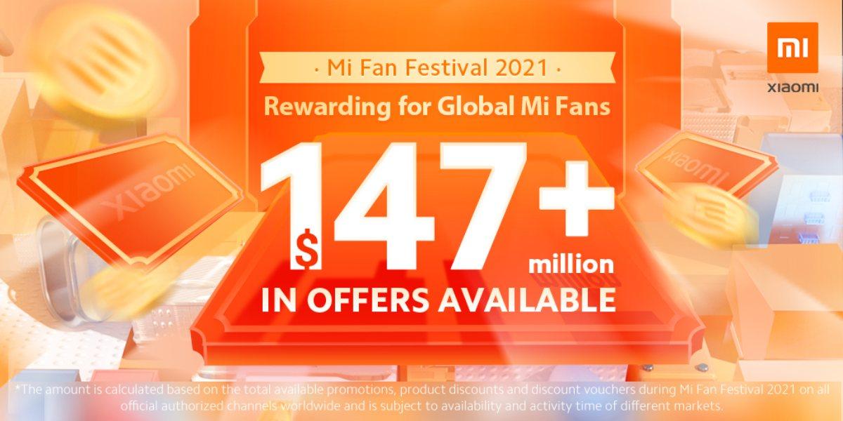 Mi Fan Festival 2021: Xiaomi trae 147 millones en ofertas especiales