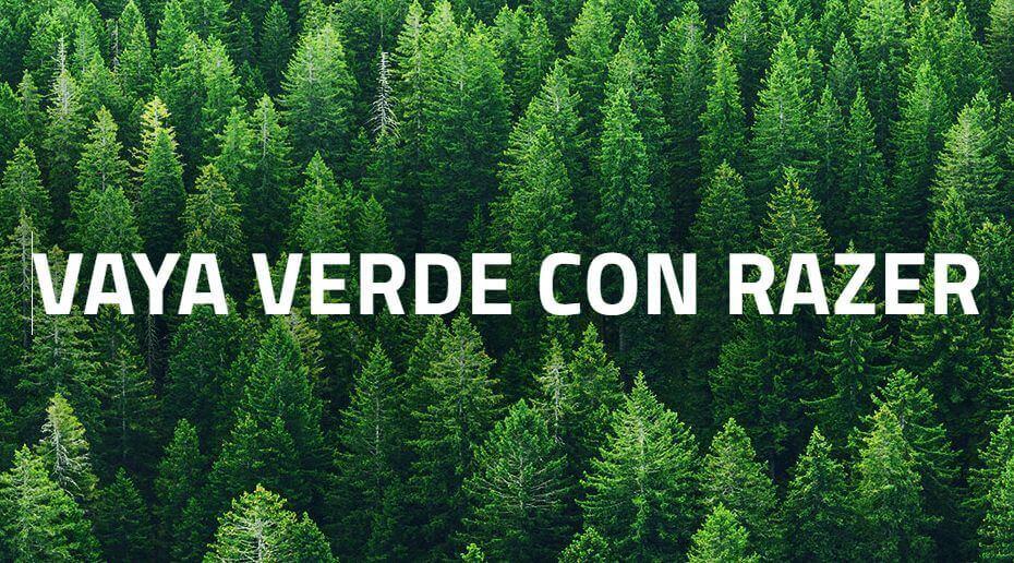 Razer lanza un Fondo Verde para apoyar la sostenibilidad