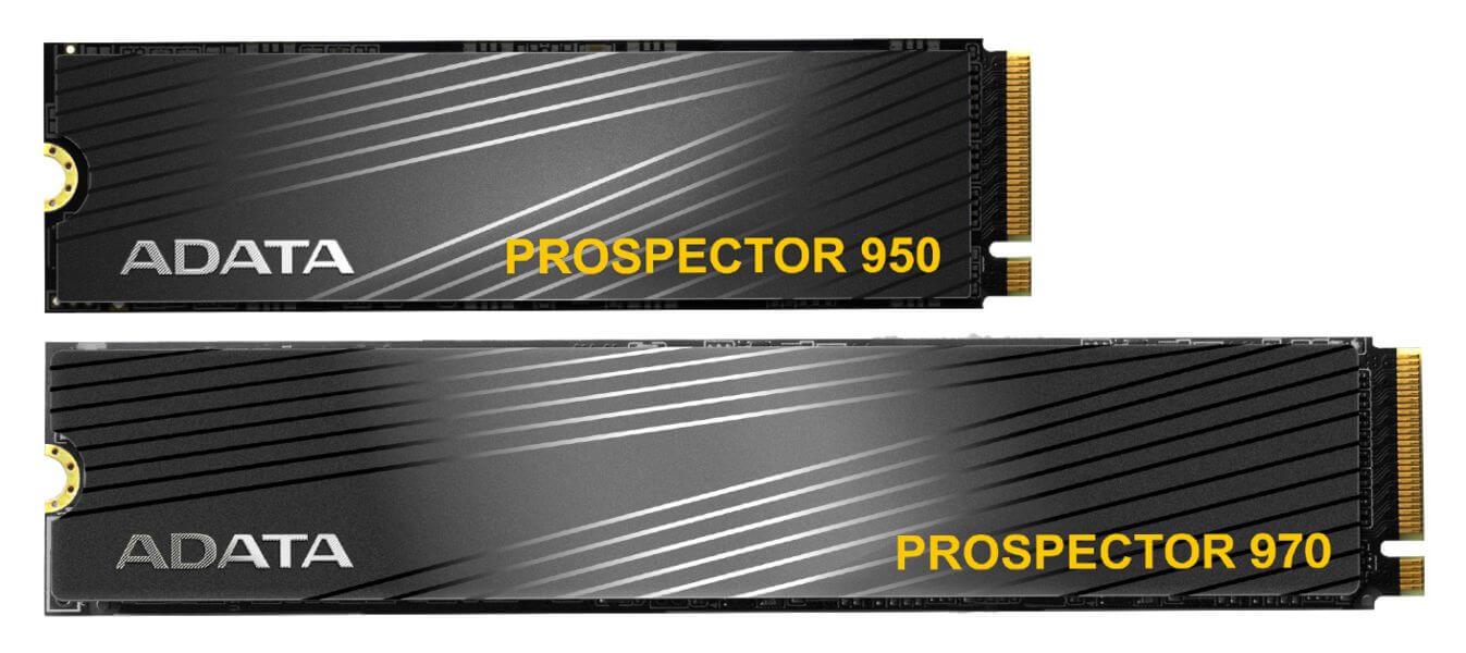 ADATA PROSPECTOR 970 y PROSPECTOR 950 PCIe