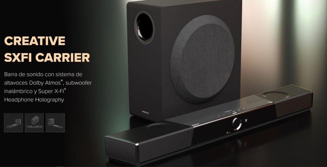 Creative SXFI CARRIER, primera barra de sonido con tecnología holográfica Super X-Fi