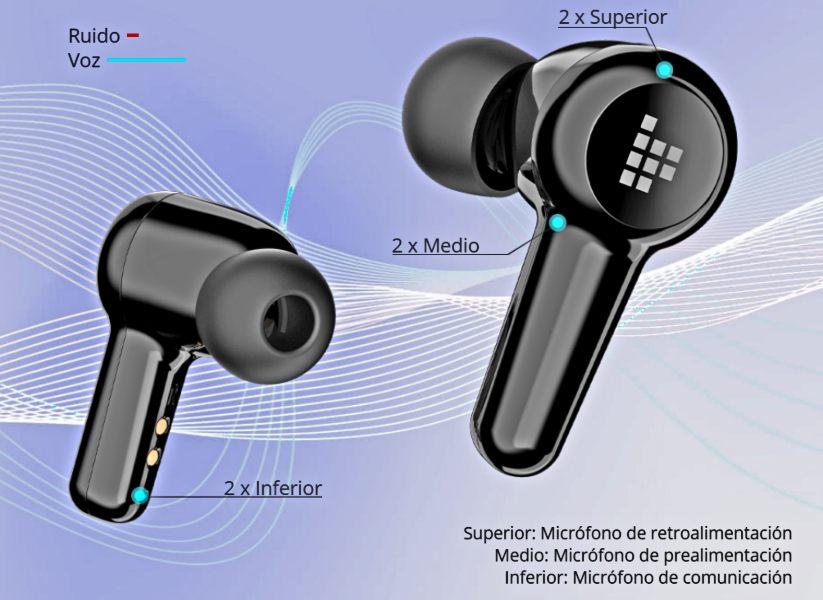 Diseño de Seis Micrófonos - Apollo Air
