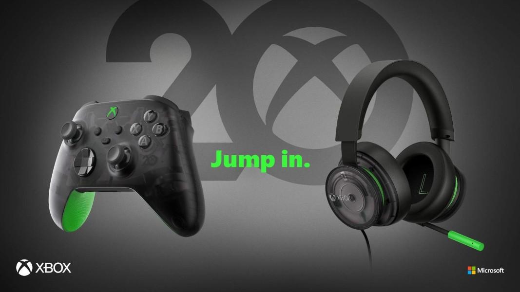 20 aniversario de Xbox - Mando inalámbrico y auriculares edición especial