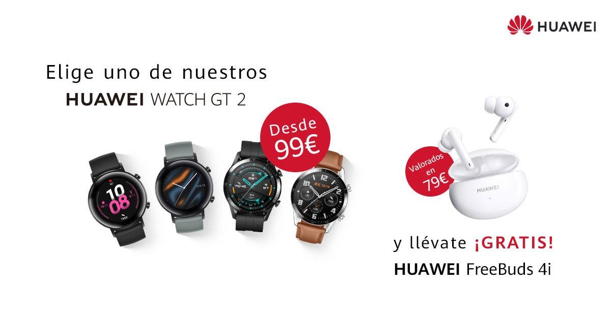 HUAWEI FreeBuds 4i GRATIS ahora con los HUAWEI Watch GT 2