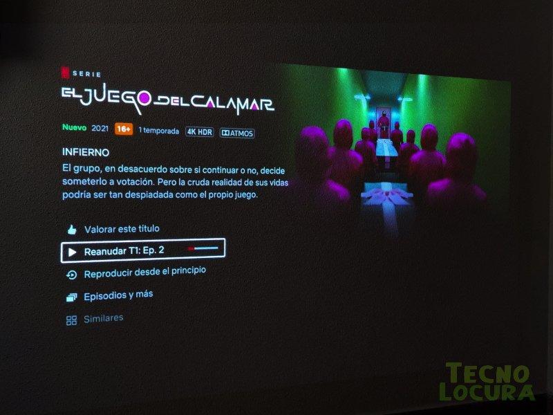 El juego del Calamar - XGIMI HORIZON PRO Netflix